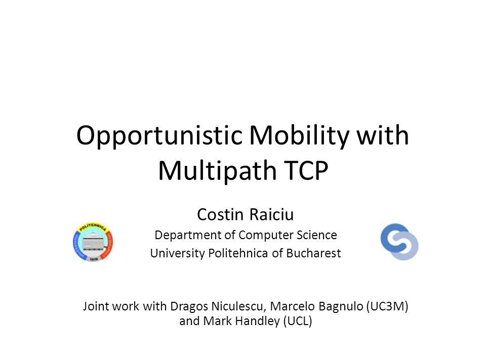 Proxy Functionality: Server Does Not Speak MPTCP 3G celltower MPTCP Proxy