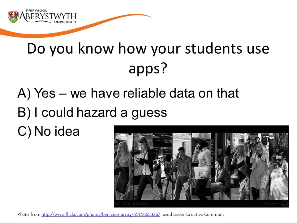 Do you know how your students use apps.
