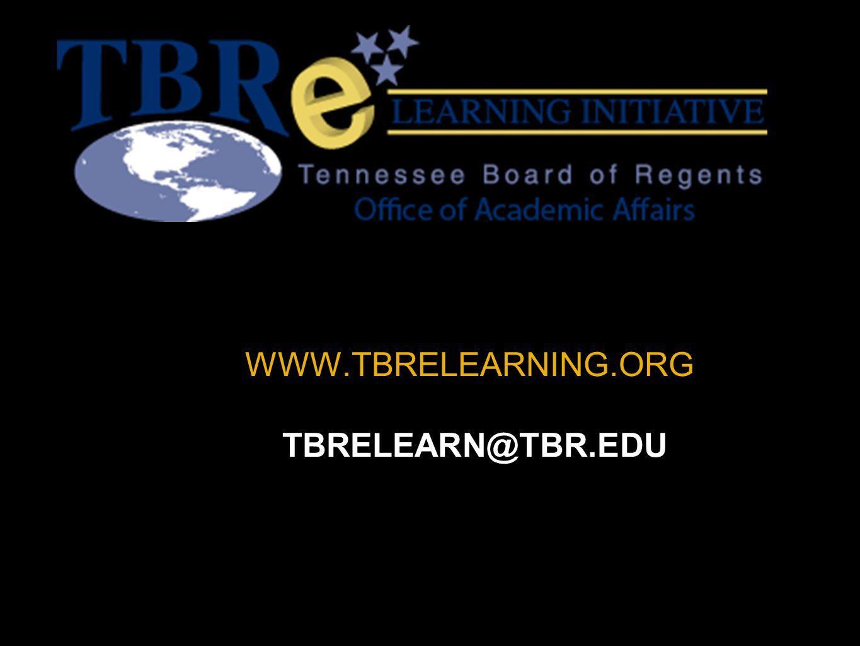 WWW.TBRELEARNING.ORG TBRELEARN@TBR.EDU