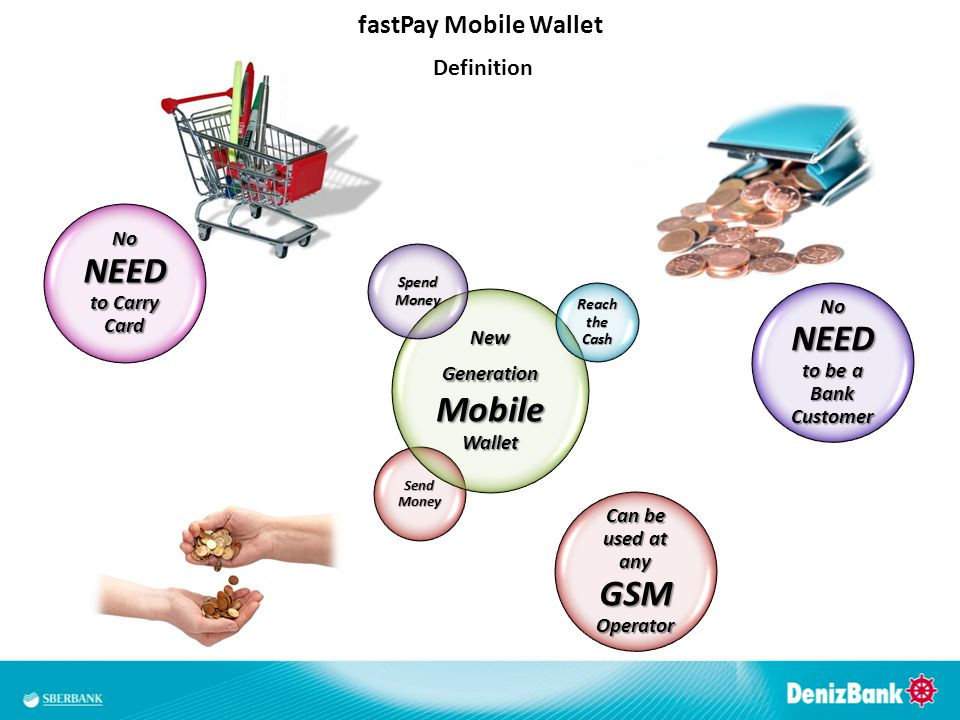 No NEED to Carry Card Send Money New Generation Mobile Wallet Spend Money Reach the Cash No NEED to be a Bank Customer fastPay Mobile Wallet Definitio