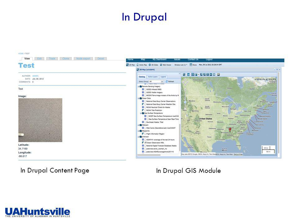 In Drupal In Drupal Content Page In Drupal GIS Module