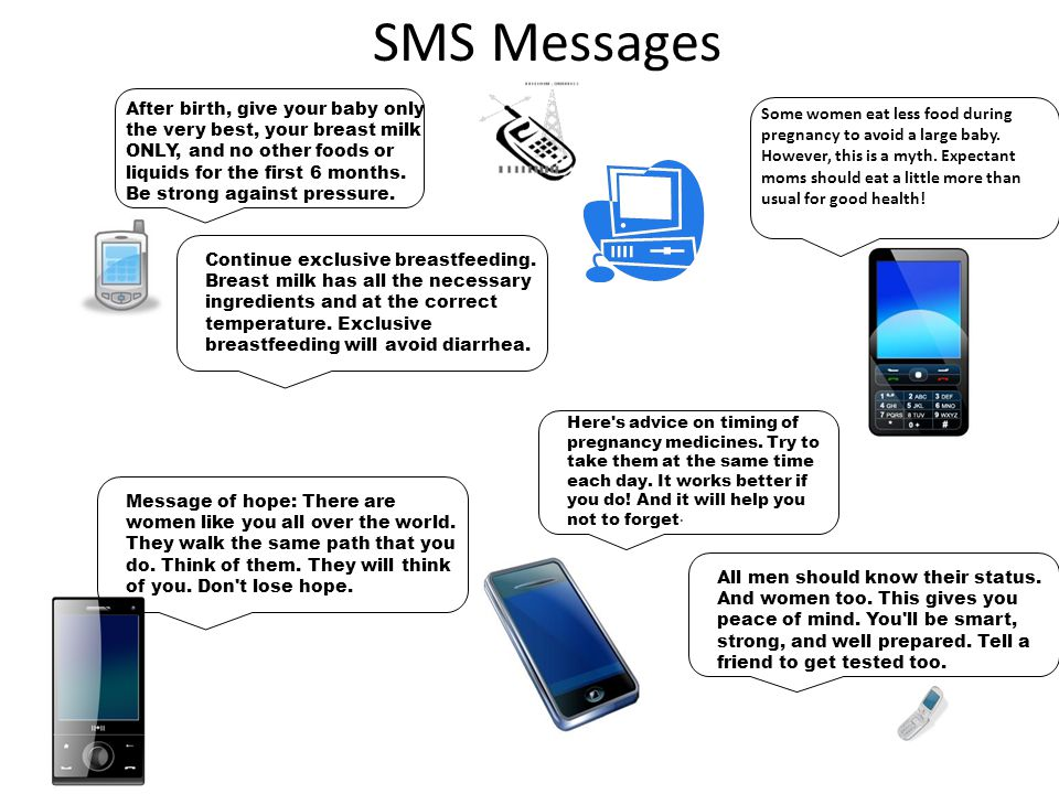 SMS Messages Here s advice on timing of pregnancy medicines.