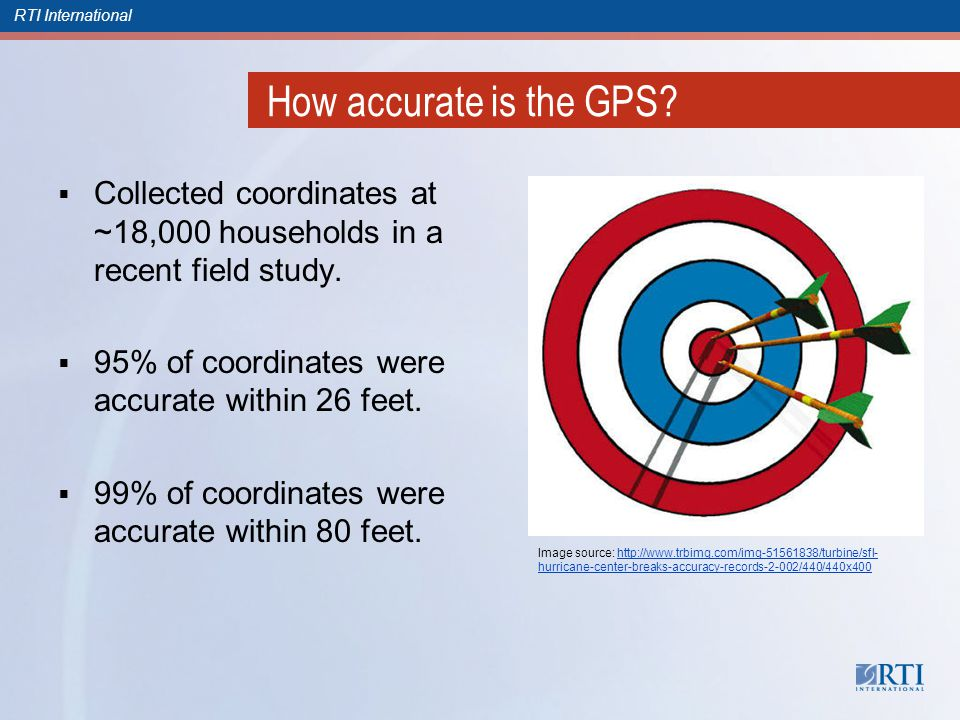 RTI International How accurate is the GPS.