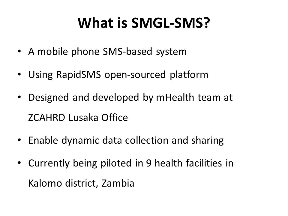 What is SMGL-SMS.