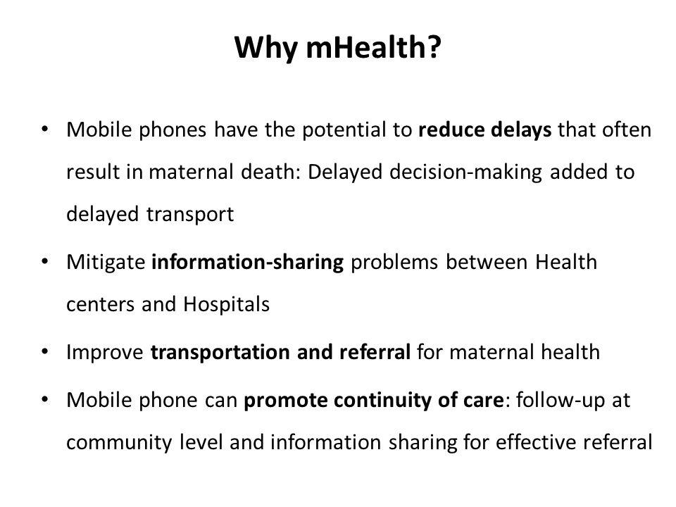 Why mHealth.