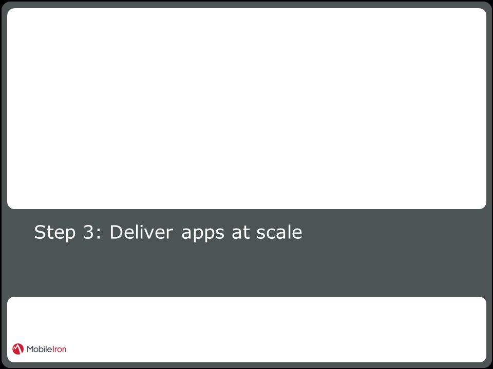 16 Confidential Step 3: Deliver apps at scale