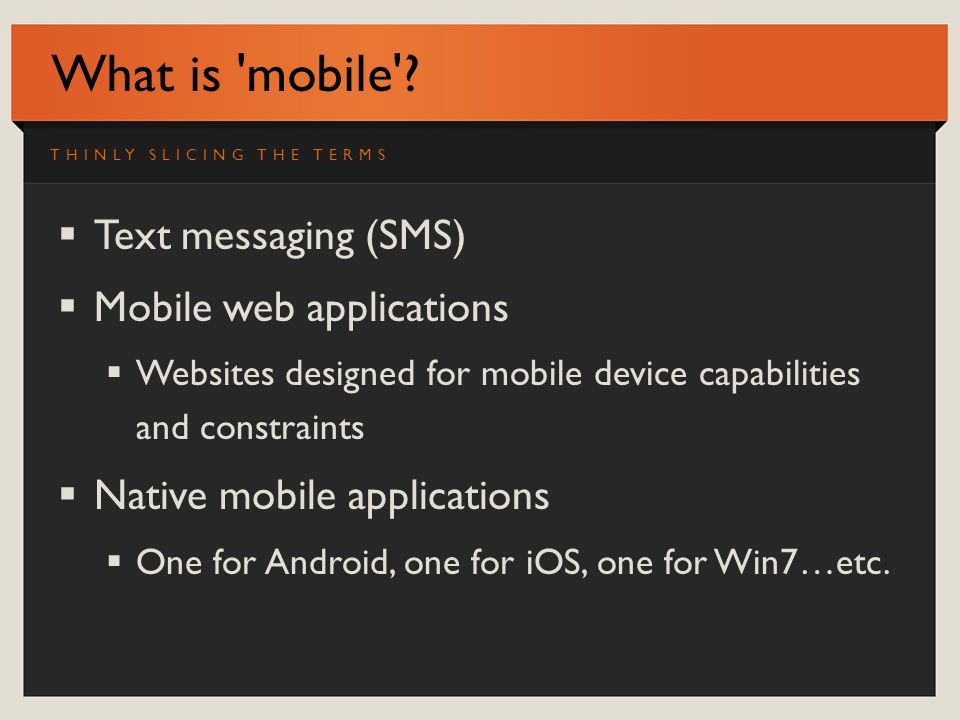 What is mobile .