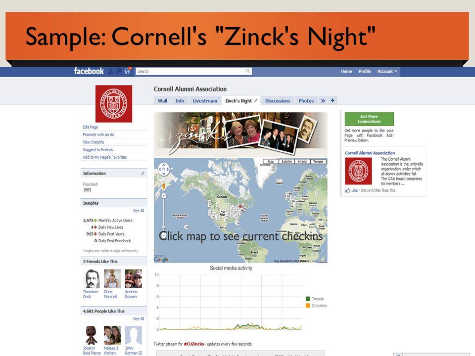 Sample: Cornell s Zinck s Night
