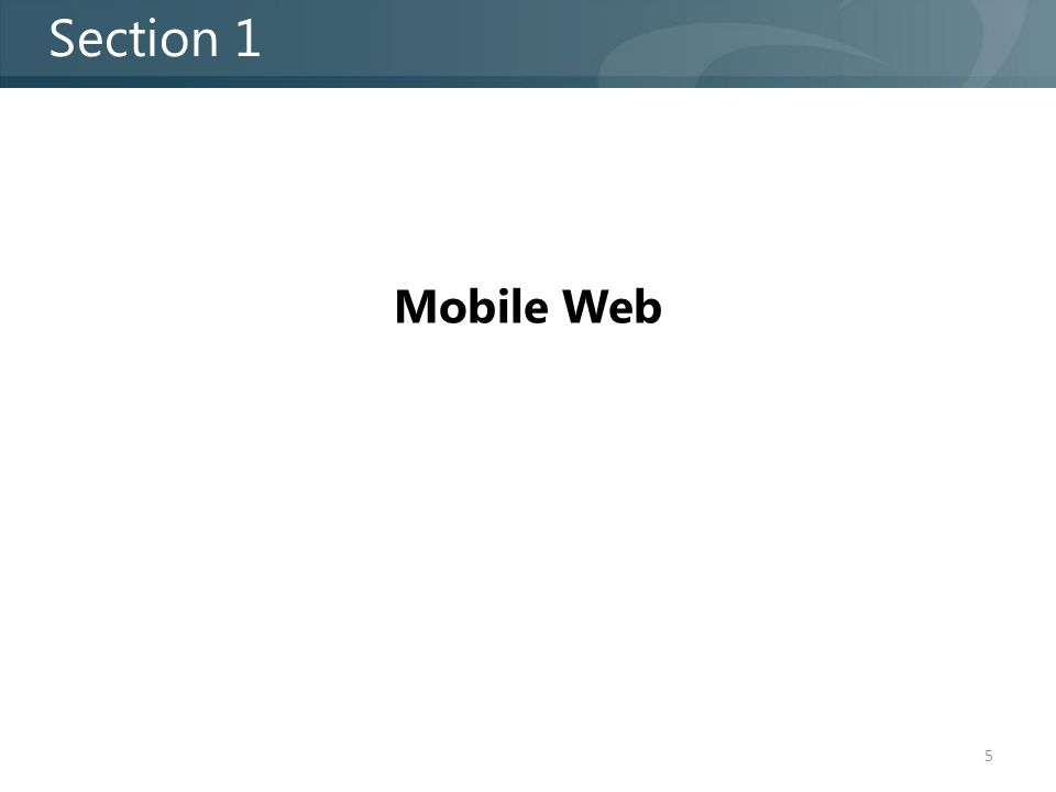 Mobile Web Section 1 5