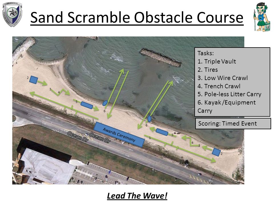 Sand Scramble Obstacle Course Awards Ceremony Tasks: 1.