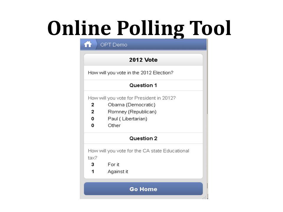 Online Polling Tool