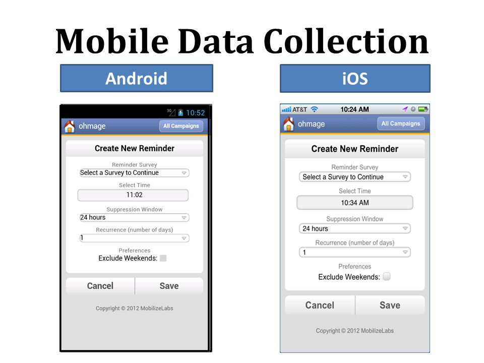 Mobile Data Collection Android iOS
