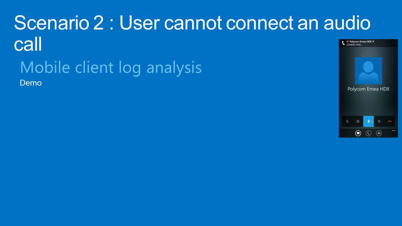 Mobile client log analysis Demo