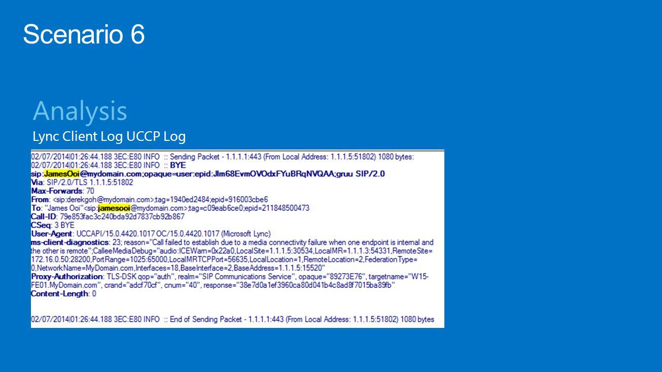 Analysis Lync Client Log UCCP Log