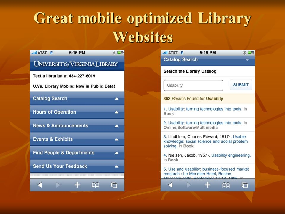 Great mobile optimized Library Websites
