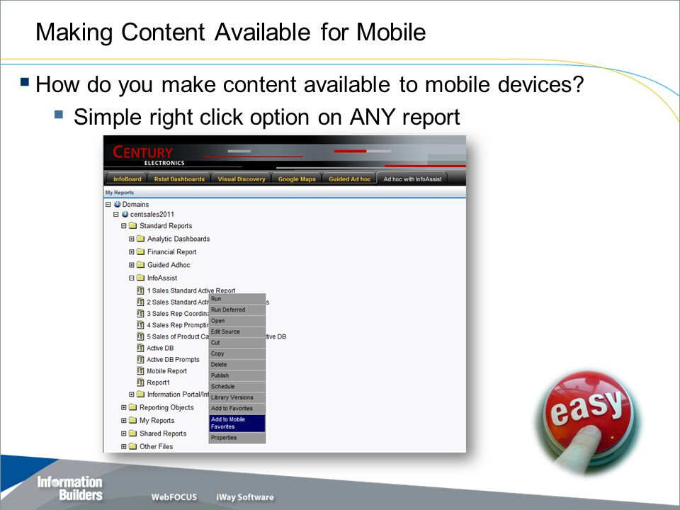 Making Content Available for Mobile How do you make content available to mobile devices.
