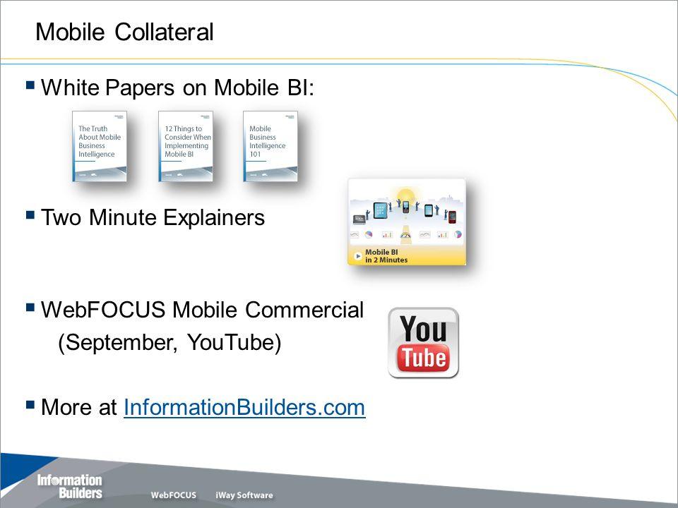 Mobile Collateral Copyright 2010, Information Builders.