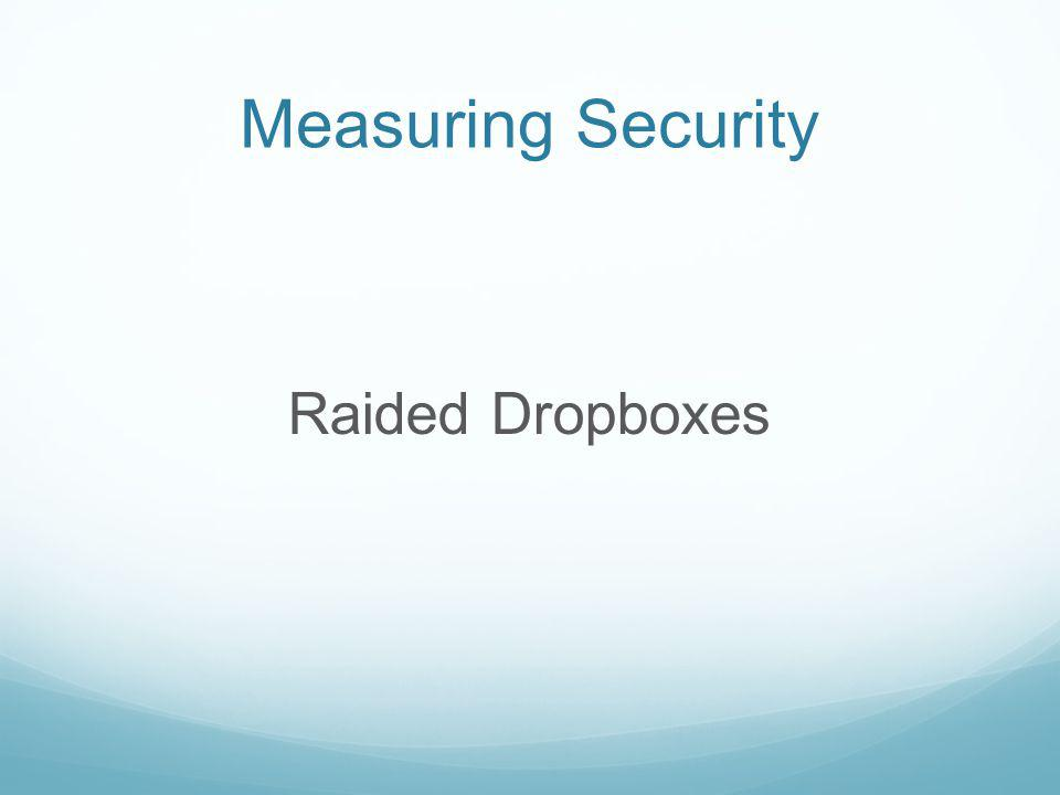 Measuring Security Raided Dropboxes
