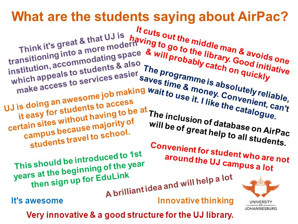 What are the students saying about AirPac.