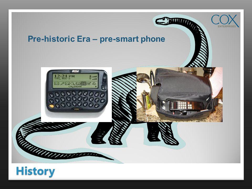History Pre-historic Era – pre-smart phone