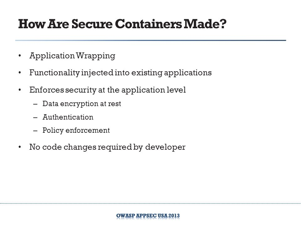 How Are Secure Containers Made.