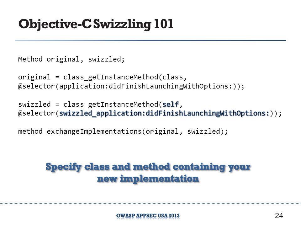 Objective-C Swizzling 101 24