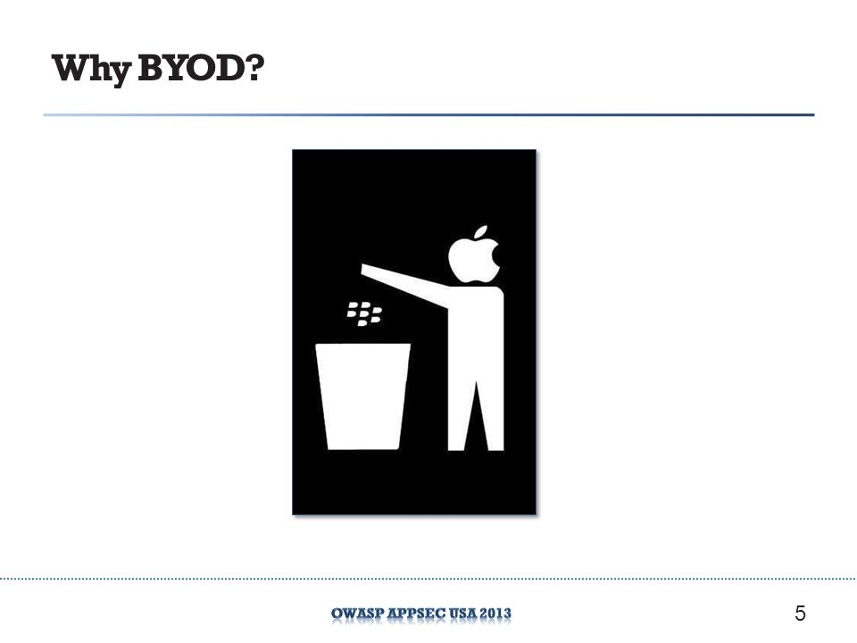Why BYOD? 5