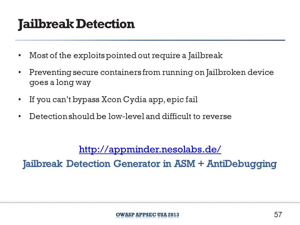 Jailbreak Detection 57