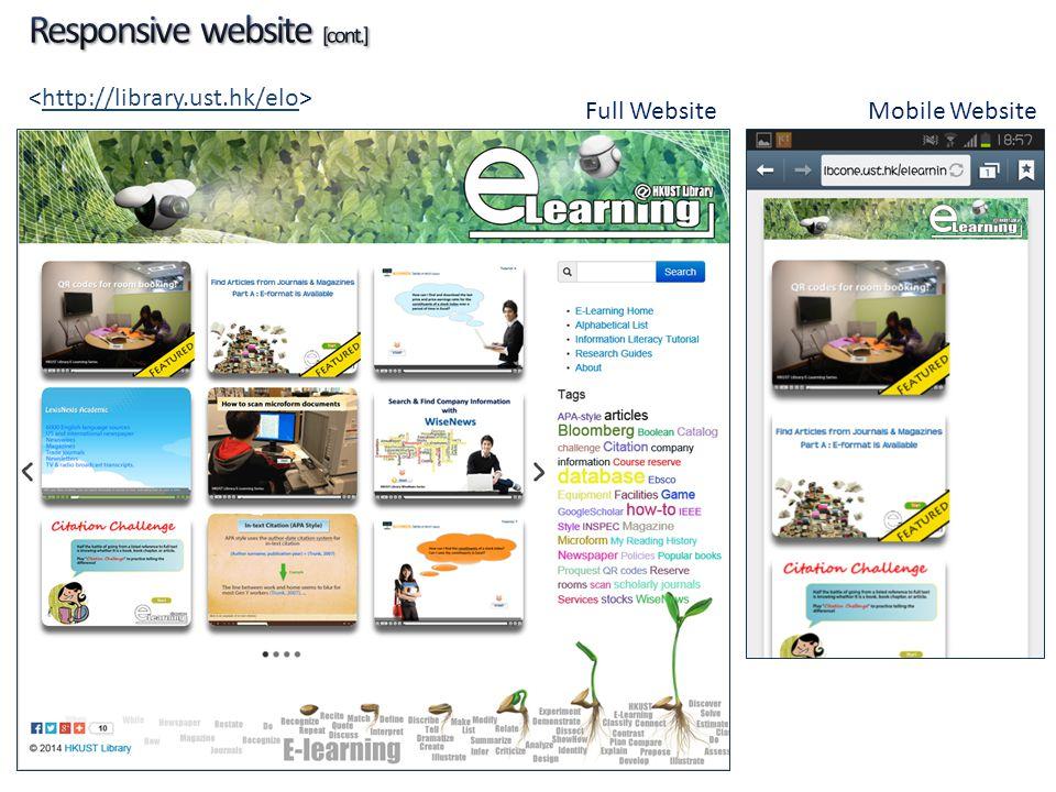 http://library.ust.hk/elo Full WebsiteMobile Website