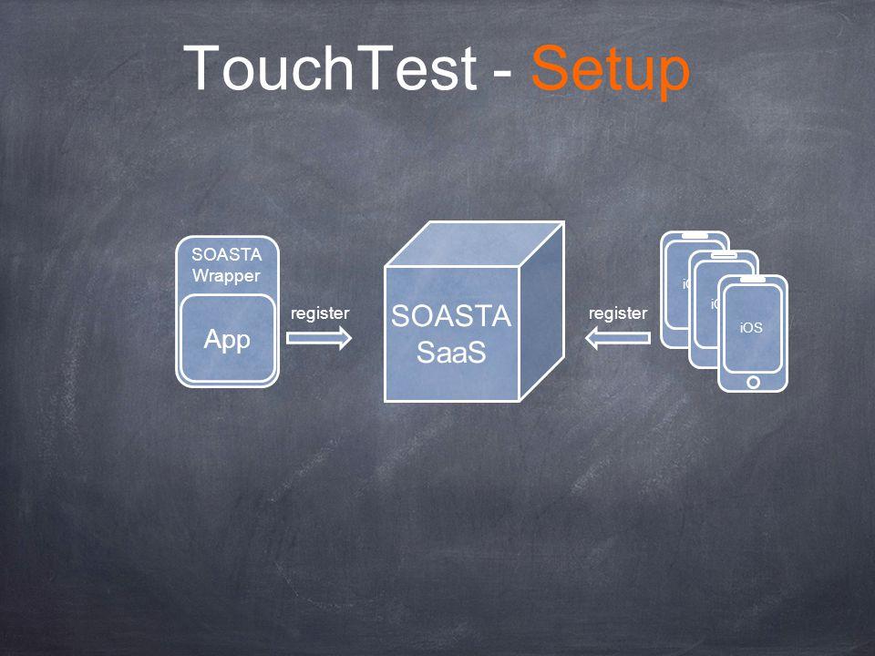 SOASTA Wrapper TouchTest - Setup App SOASTA SaaS register iOS register