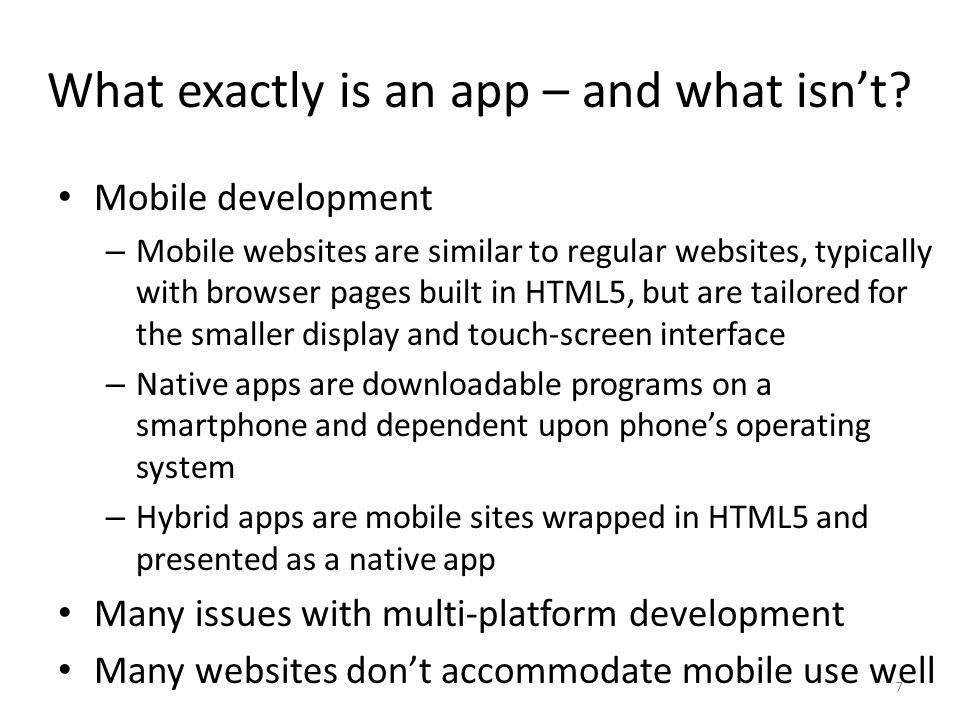 What exactly is an app – and what isnt.