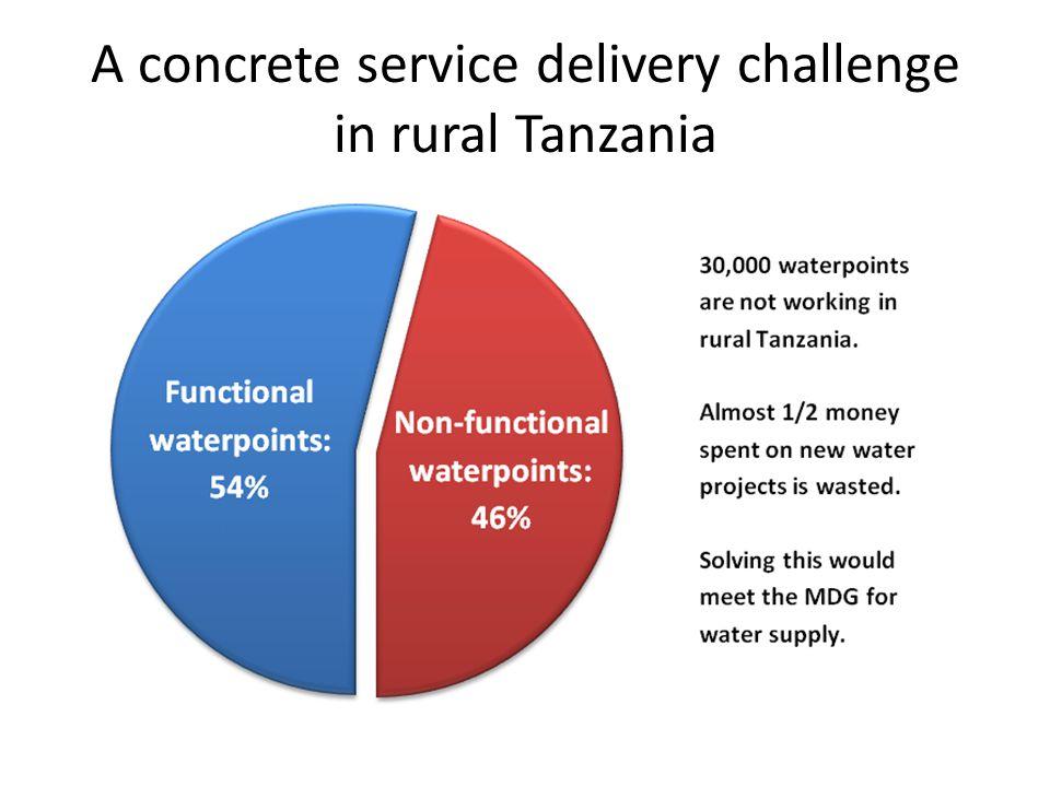 A concrete service delivery challenge in rural Tanzania