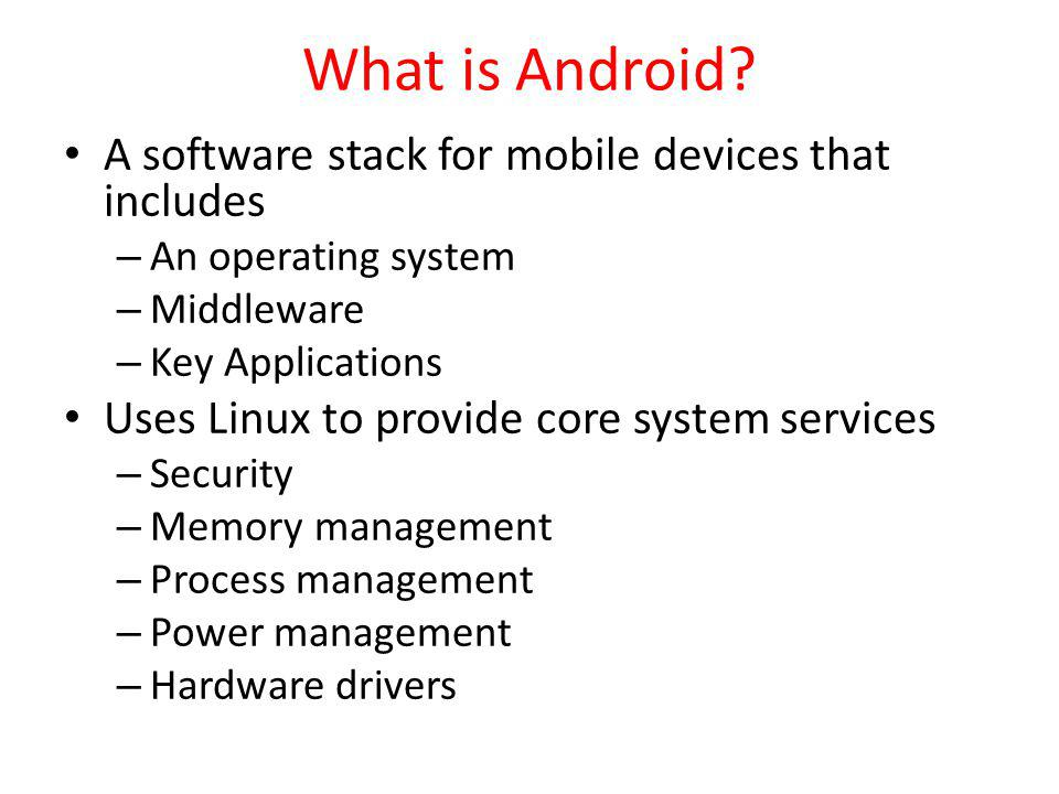 Or From the Command Line 33 C:\android-sdk-windows\tools>android create avd -n MyDevice -t android-8 Android 2.2 is a basic Android platform.
