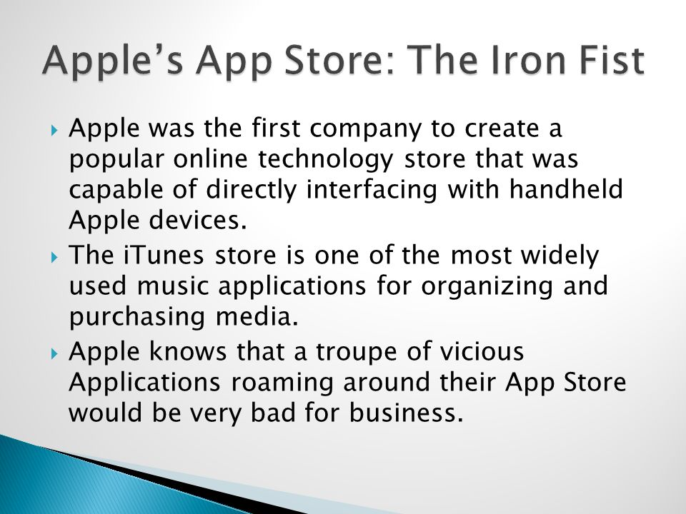 Apple was the first company to create a popular online technology store that was capable of directly interfacing with handheld Apple devices.
