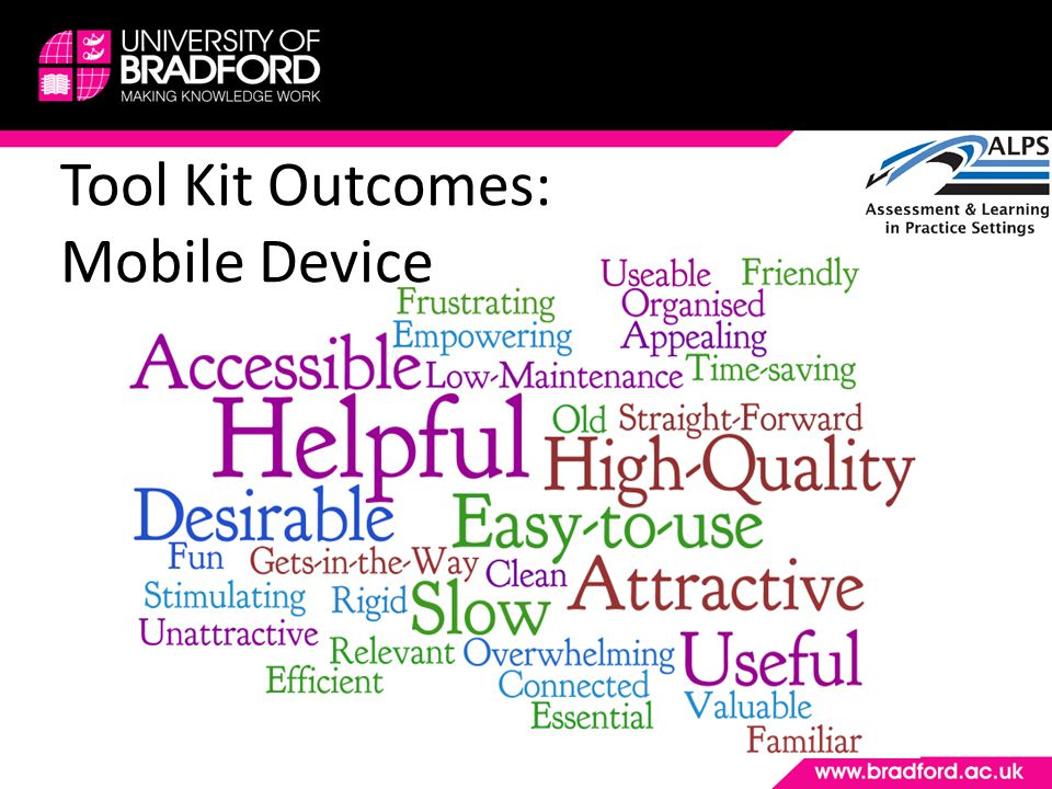 Tool Kit Outcomes: Mobile Device