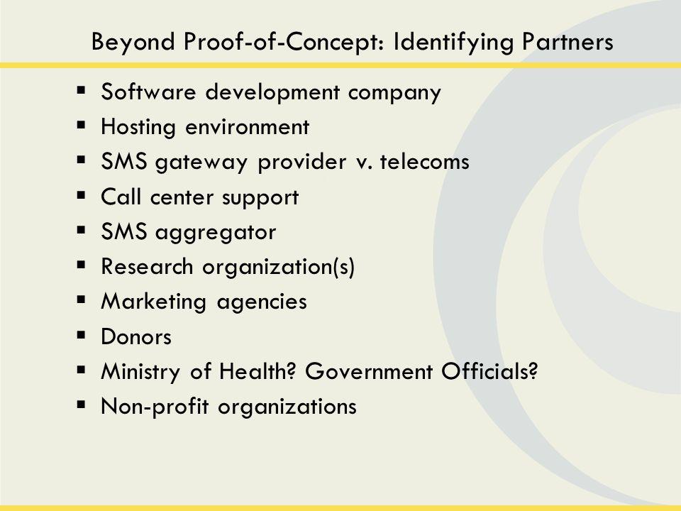 Mapping Development & Deployment Partners