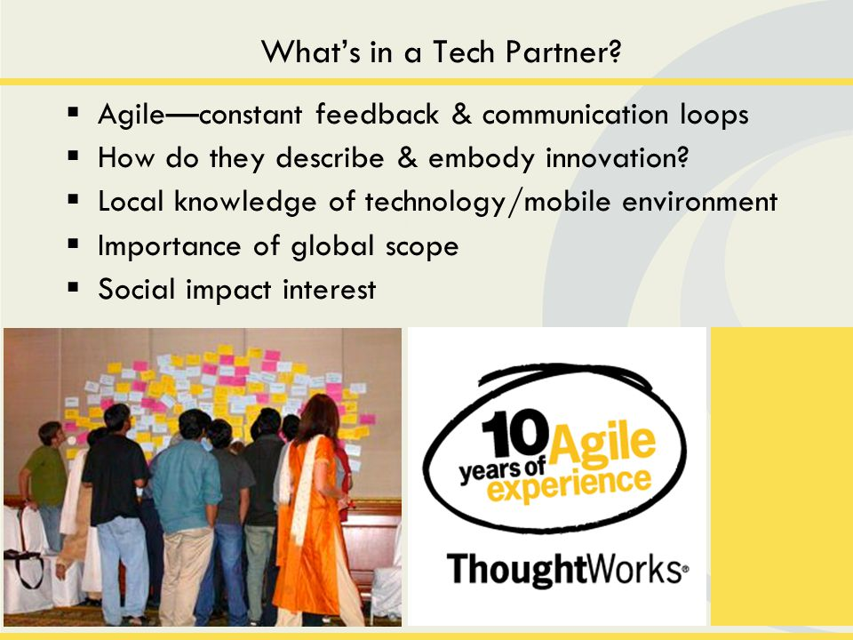 Agileconstant feedback & communication loops How do they describe & embody innovation.
