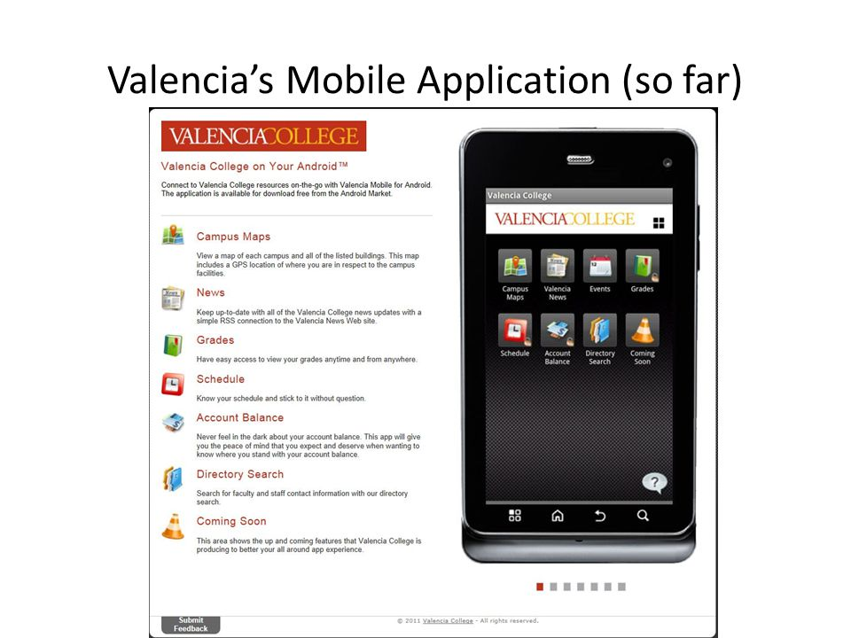 Valencias Mobile Application (so far)