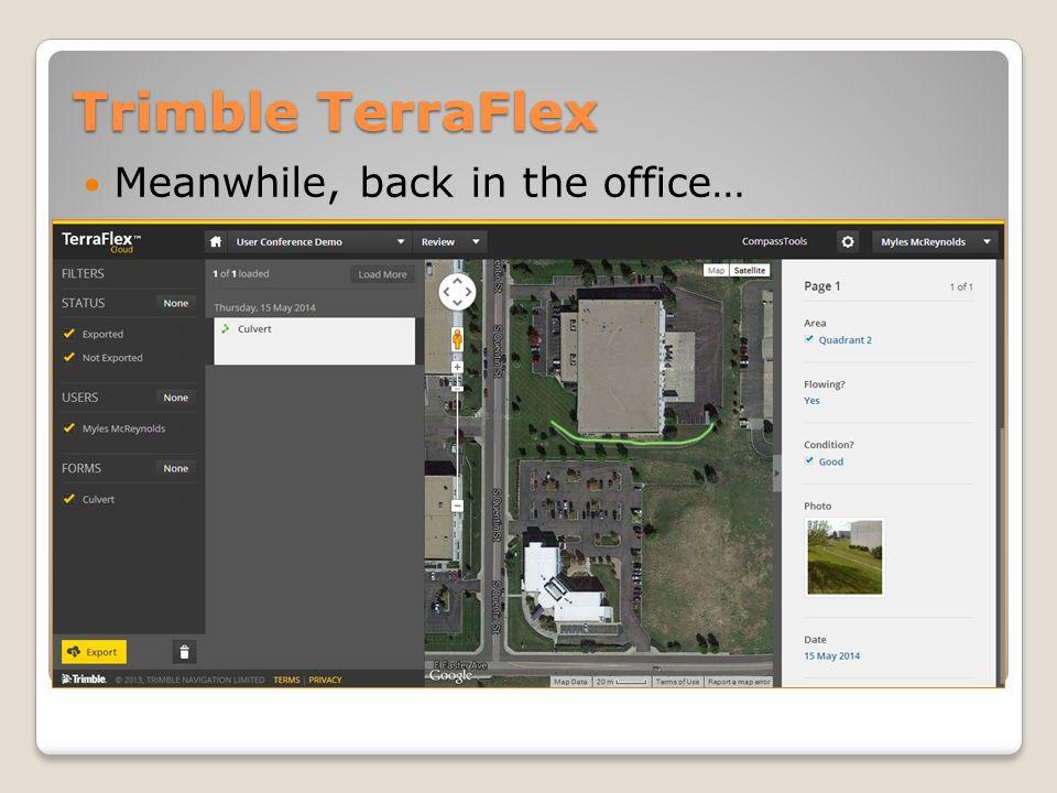 Trimble TerraFlex Export forms to multiple formats
