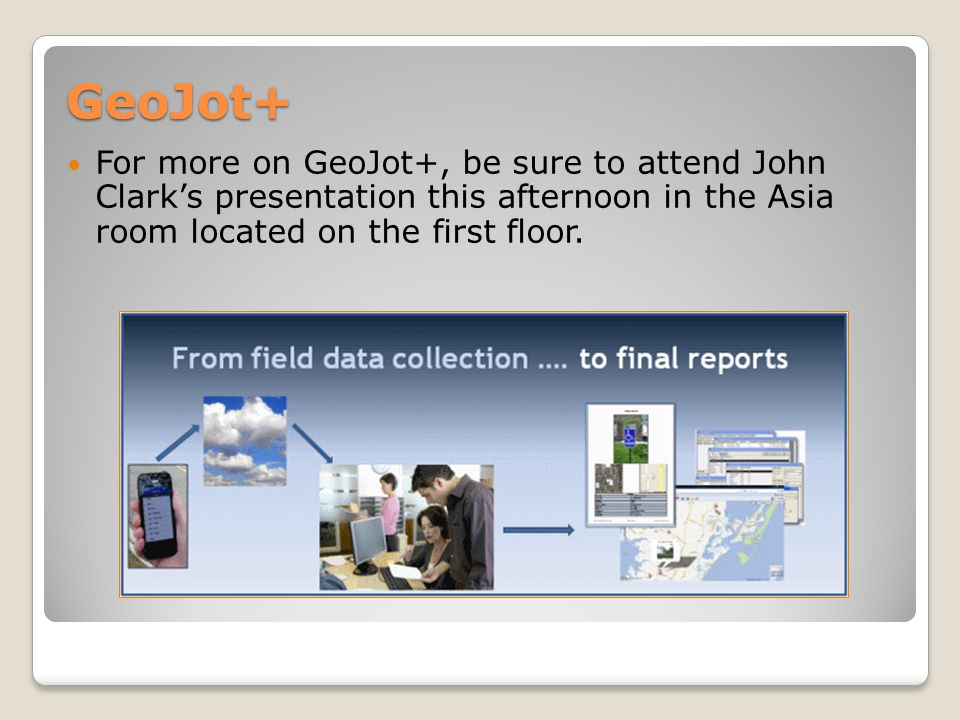 Esri Collector for ArcGIS Use your iOS or Android device to collect and update information in the field, whether connected or disconnected.