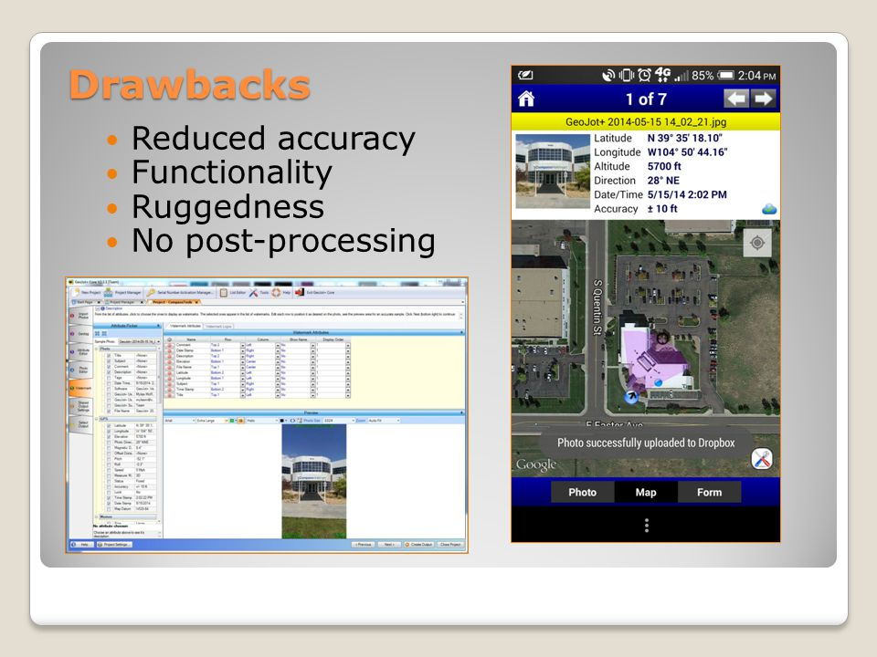 Trimble TerraFlex Trimble InSphere is the online geospatial information management tool that provides cloud based data sharing Entry level GIS field data collection Centrally managed Online office platform – no need to download desktop software Import/Export Esri XML schema and data Export to Google Earth Replaces pen and paper workflows