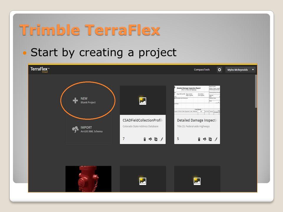 Trimble TerraFlex Select Users (you can go back later)