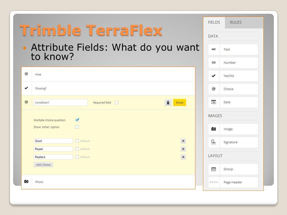 Trimble TerraFlex Publish forms for field use