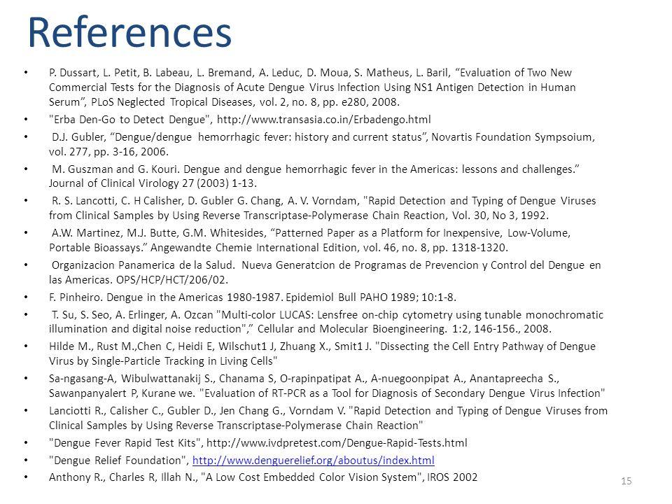 15 References P. Dussart, L. Petit, B. Labeau, L.