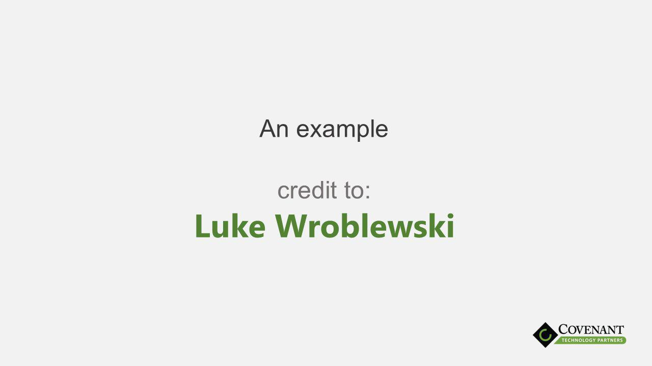 An example Luke Wroblewski credit to: