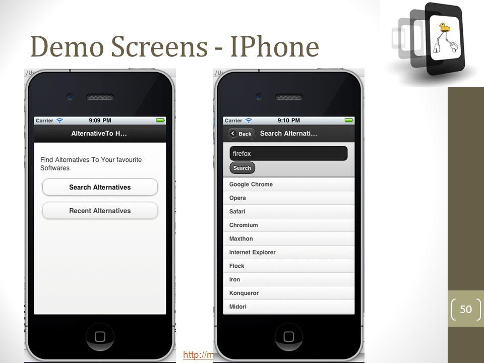 http://meetup.com/technext 50 Demo Screens - IPhone