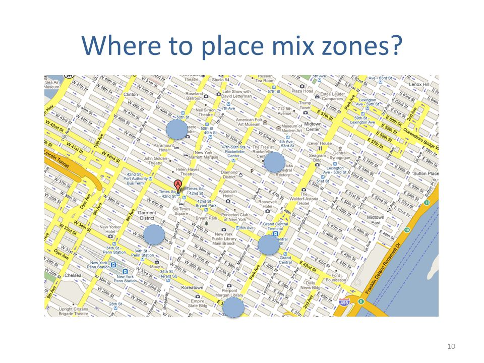 Where to place mix zones 10