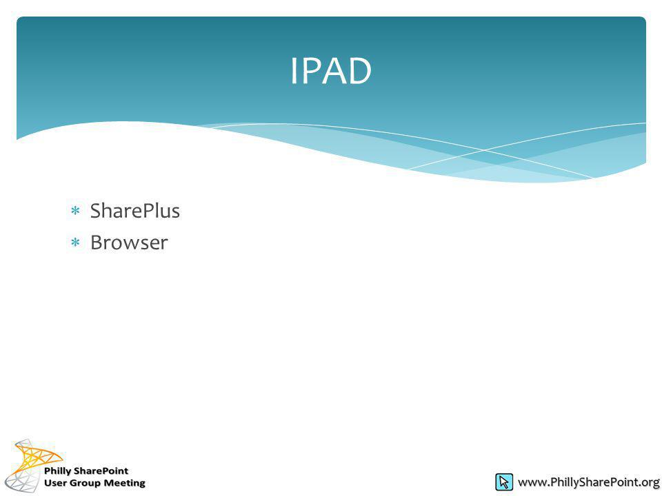 SharePlus Browser IPAD
