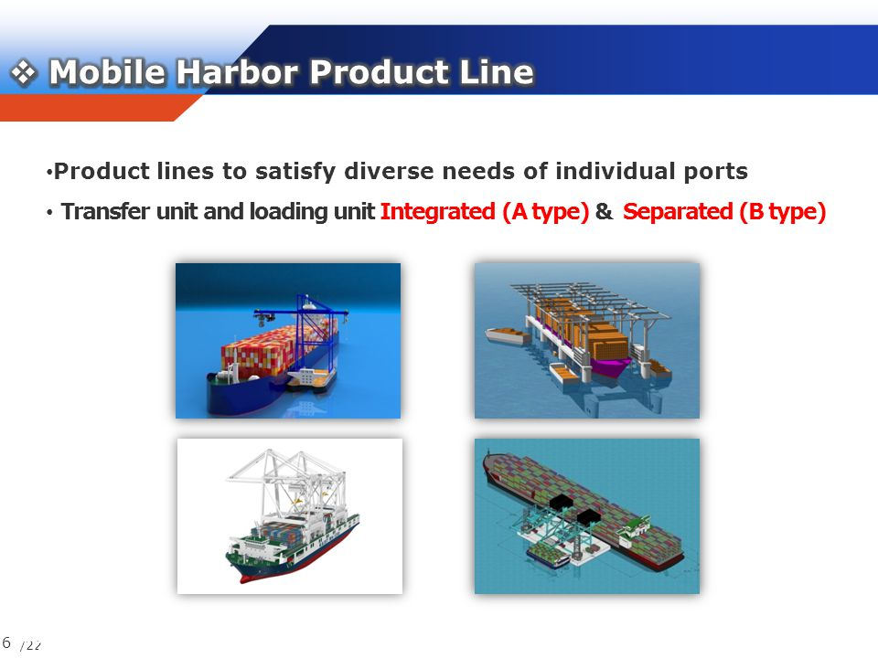 /22 6 17/23 Product lines to satisfy diverse needs of individual ports Transfer unit and loading unit Integrated (A type) & Separated (B type)