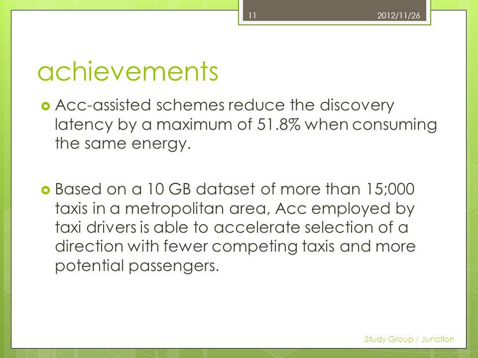 achievements Acc-assisted schemes reduce the discovery latency by a maximum of 51.8% when consuming the same energy.